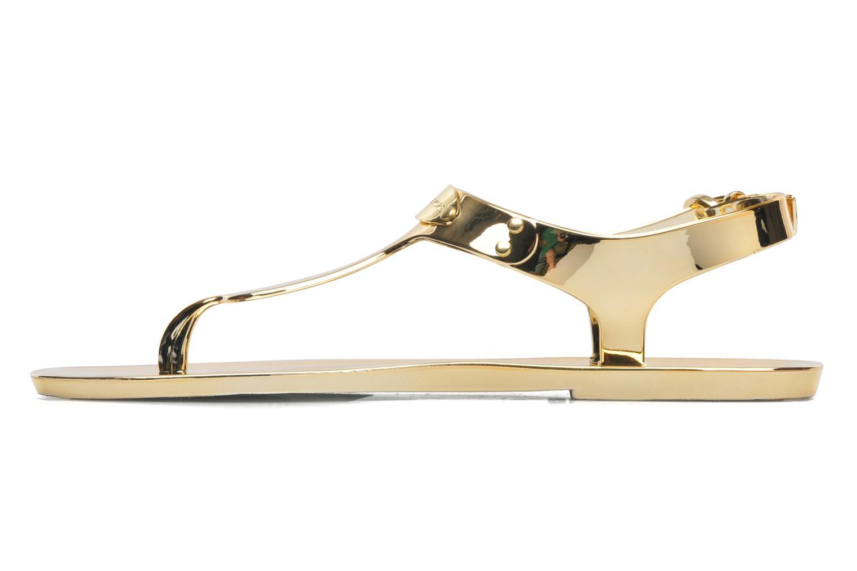 Sandales et nu-pieds Michael Michael Kors MK Plate Jelly Or et bronze vue face