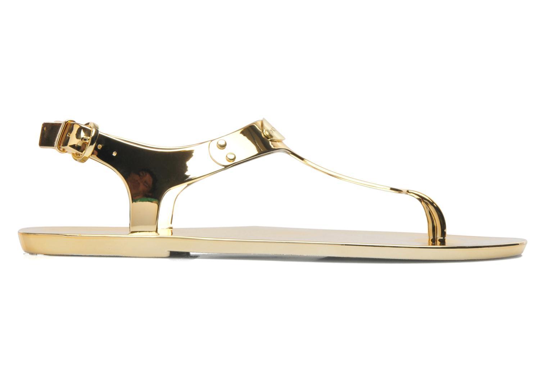 Sandales et nu-pieds Michael Michael Kors MK Plate Jelly Or et bronze vue derrière