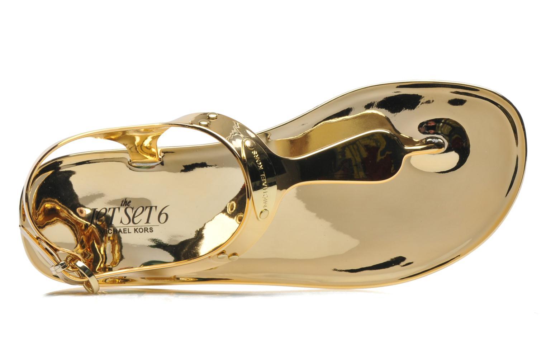 Sandales et nu-pieds Michael Michael Kors MK Plate Jelly Or et bronze vue gauche