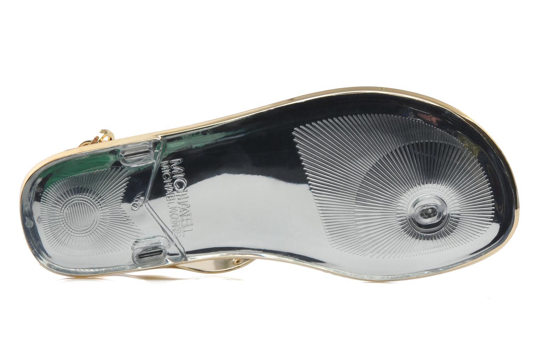 Sandales et nu-pieds Michael Michael Kors MK Plate Jelly Or et bronze vue haut