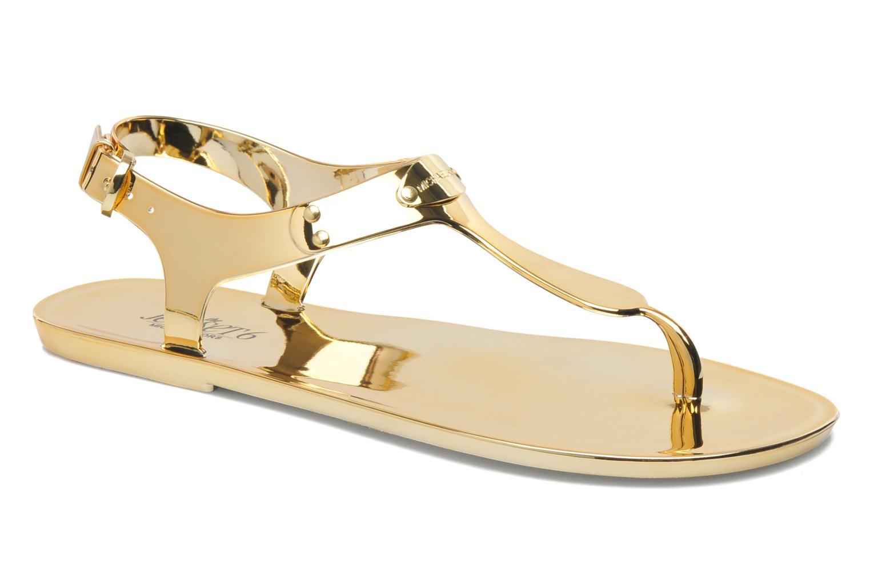 Sandales et nu-pieds Michael Michael Kors MK Plate Jelly Or et bronze vue détail/paire