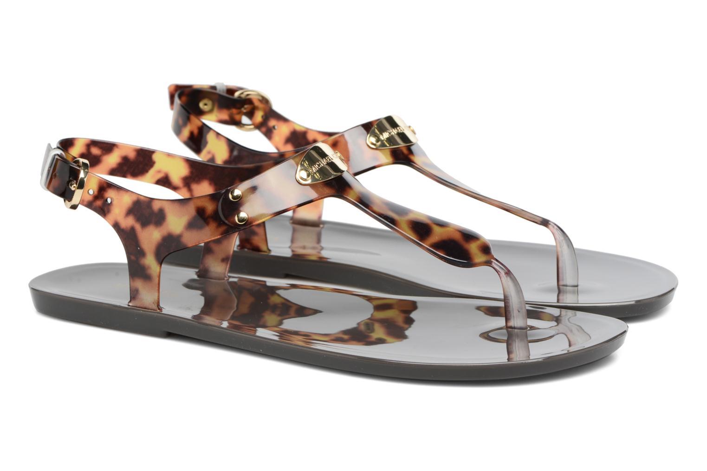 Sandales et nu-pieds Michael Michael Kors MK Plate Jelly Marron vue 3/4