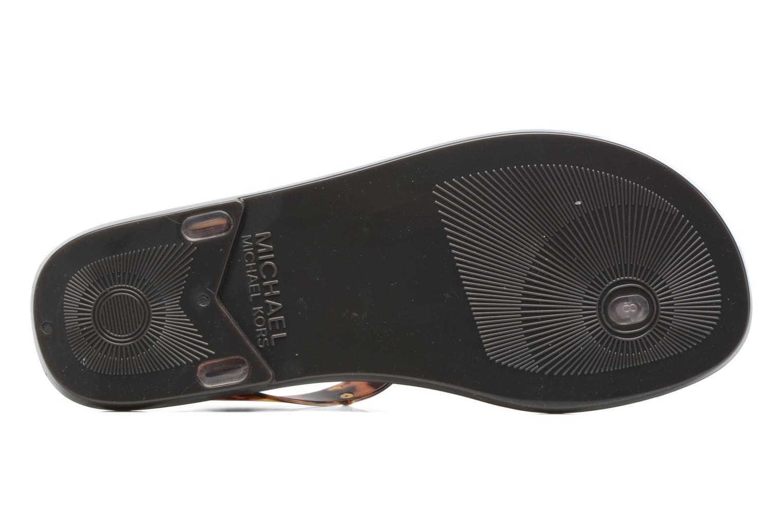 Sandales et nu-pieds Michael Michael Kors MK Plate Jelly Marron vue haut