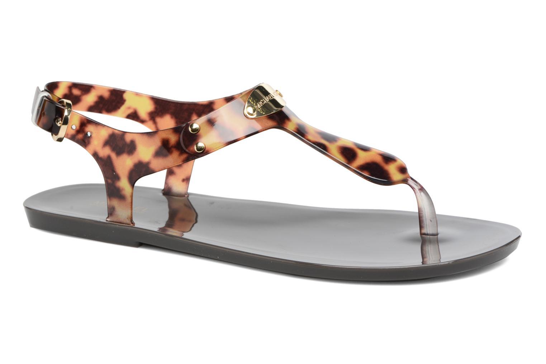Sandales et nu-pieds Michael Michael Kors MK Plate Jelly Marron vue détail/paire