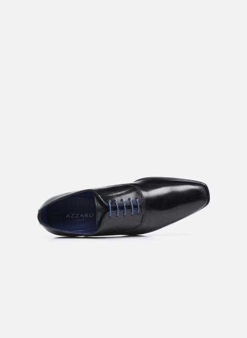 Zapatos con cordones Azzaro Mars Negro vista lateral izquierda