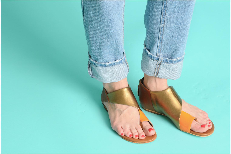 Sandales et nu-pieds Skin by Finsk NEROVE Multicolore vue bas / vue portée sac