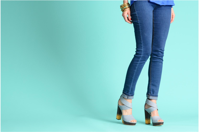 Sandals Skin by Finsk LERMAPE Black view from underneath / model view