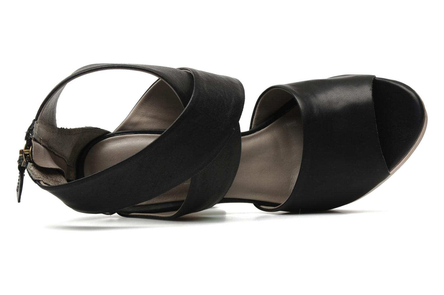 Sandals Skin by Finsk LERMAPE Black view from the left