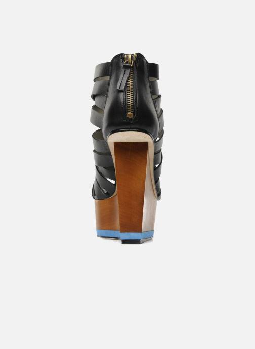 Sandalias Skin by Finsk NESIVE Negro vista lateral derecha