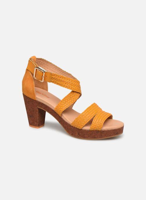 Sandales et nu-pieds Flipflop Tahiti Jaune vue détail/paire