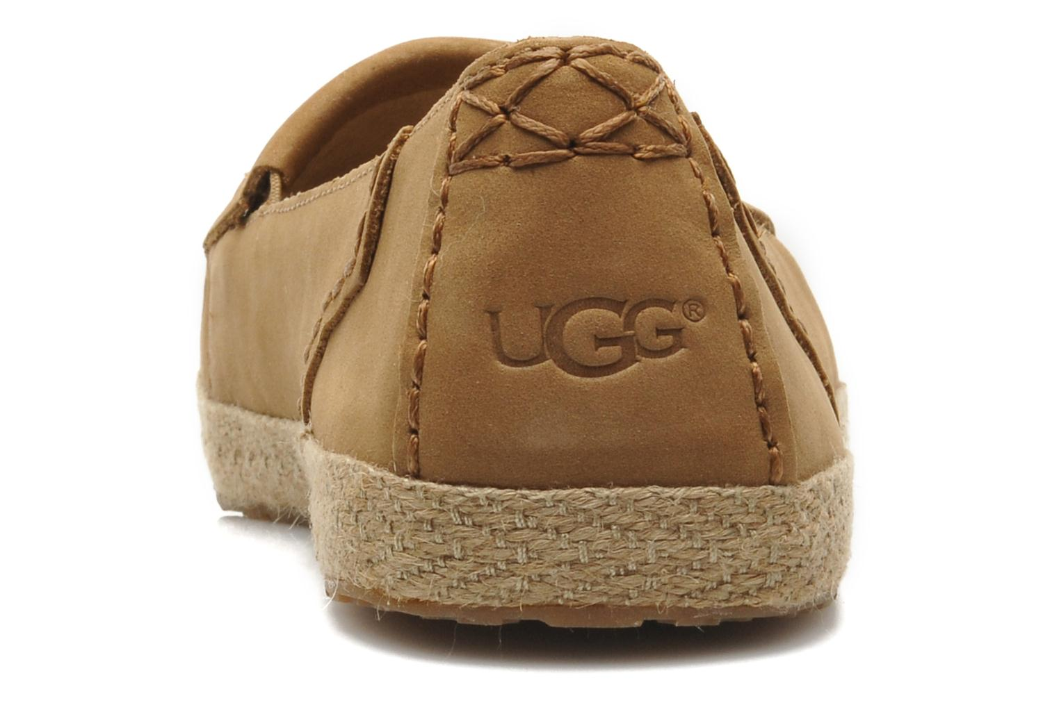 Mocasines UGG Marrah Marrón vista lateral derecha