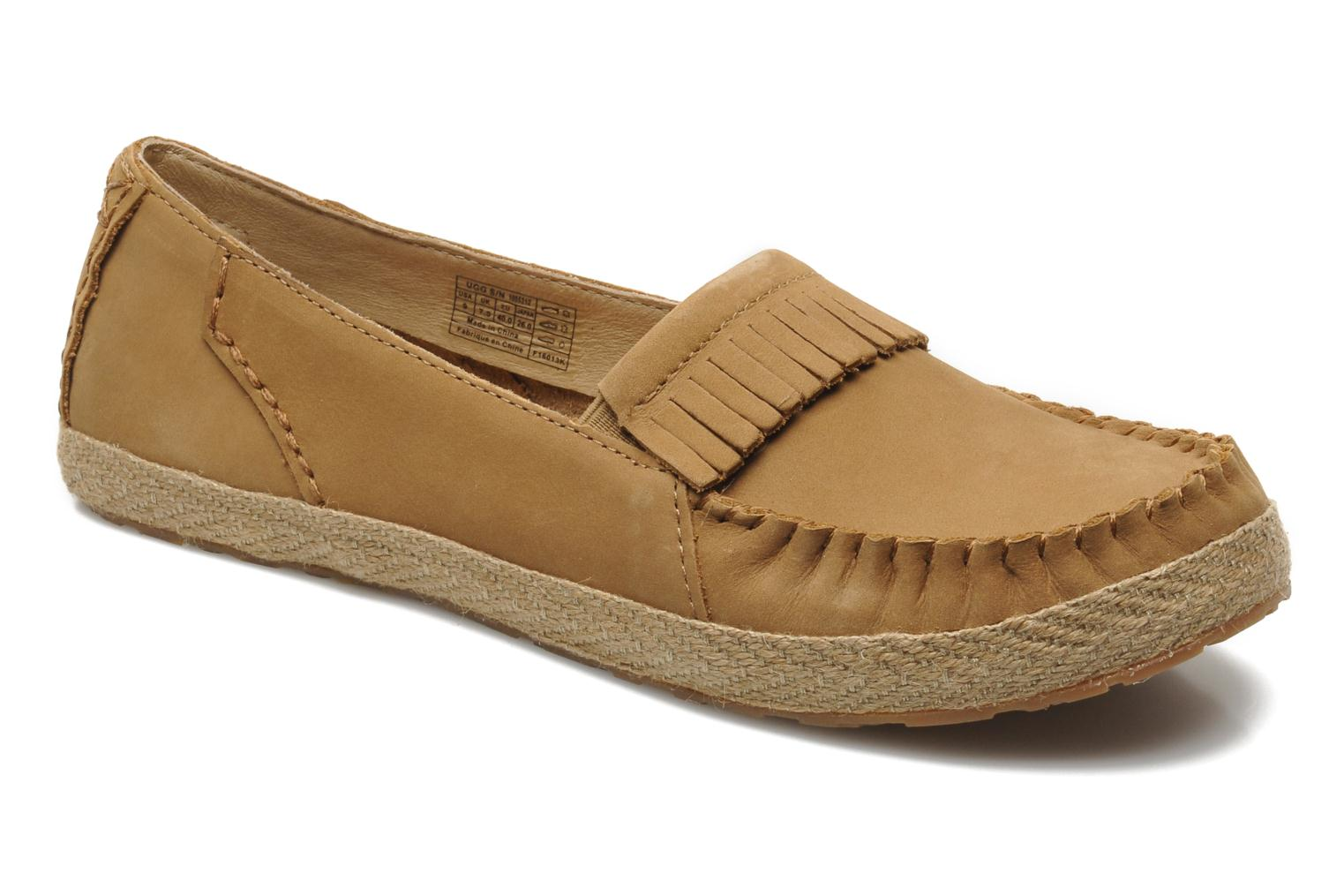 Loafers UGG Marrah Brown detailed view/ Pair view