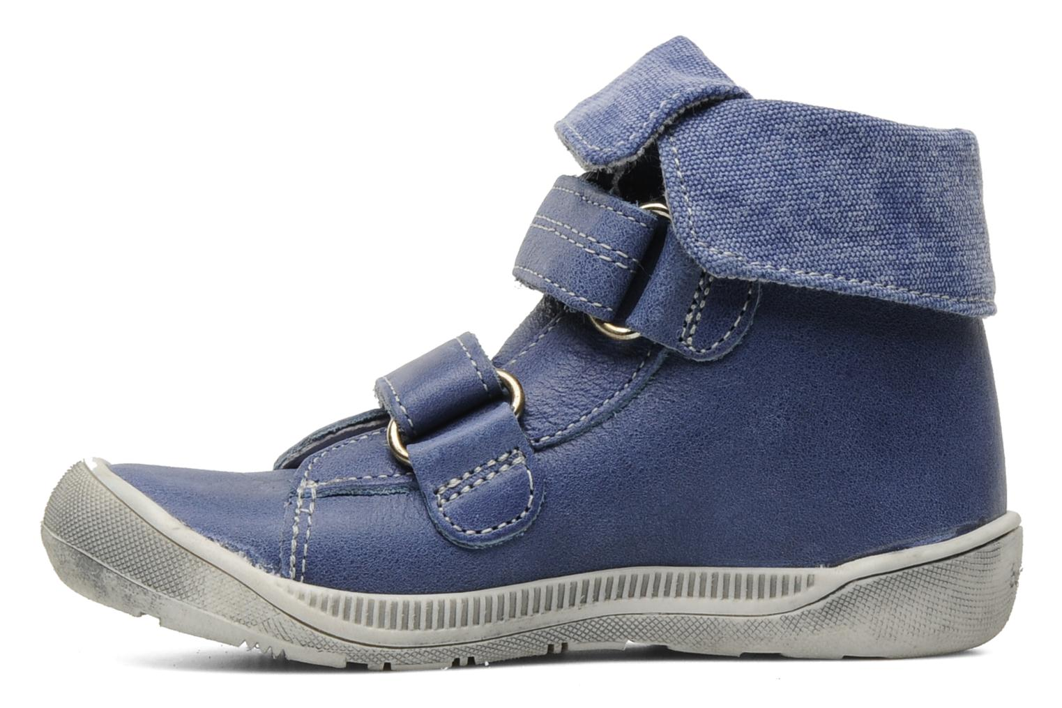 Velcro shoes Babybotte Actor Blue front view