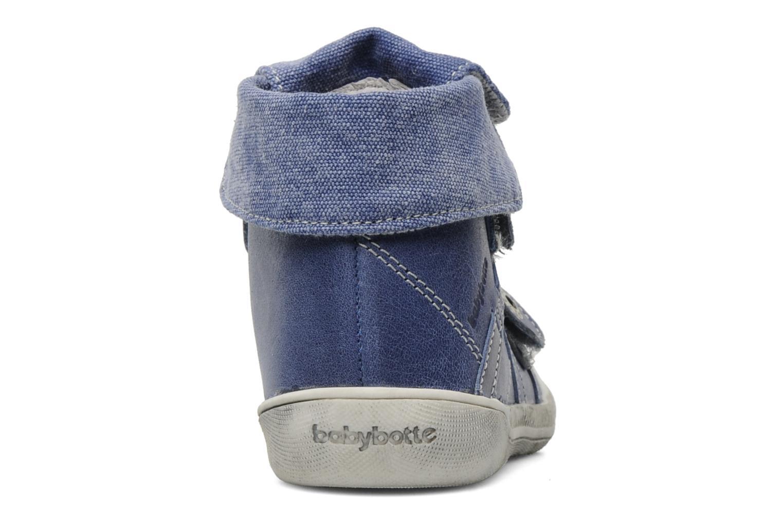 Zapatos con velcro Babybotte Actor Azul vista lateral derecha