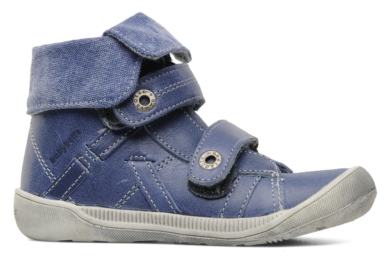 Zapatos con velcro Babybotte Actor Azul vistra trasera
