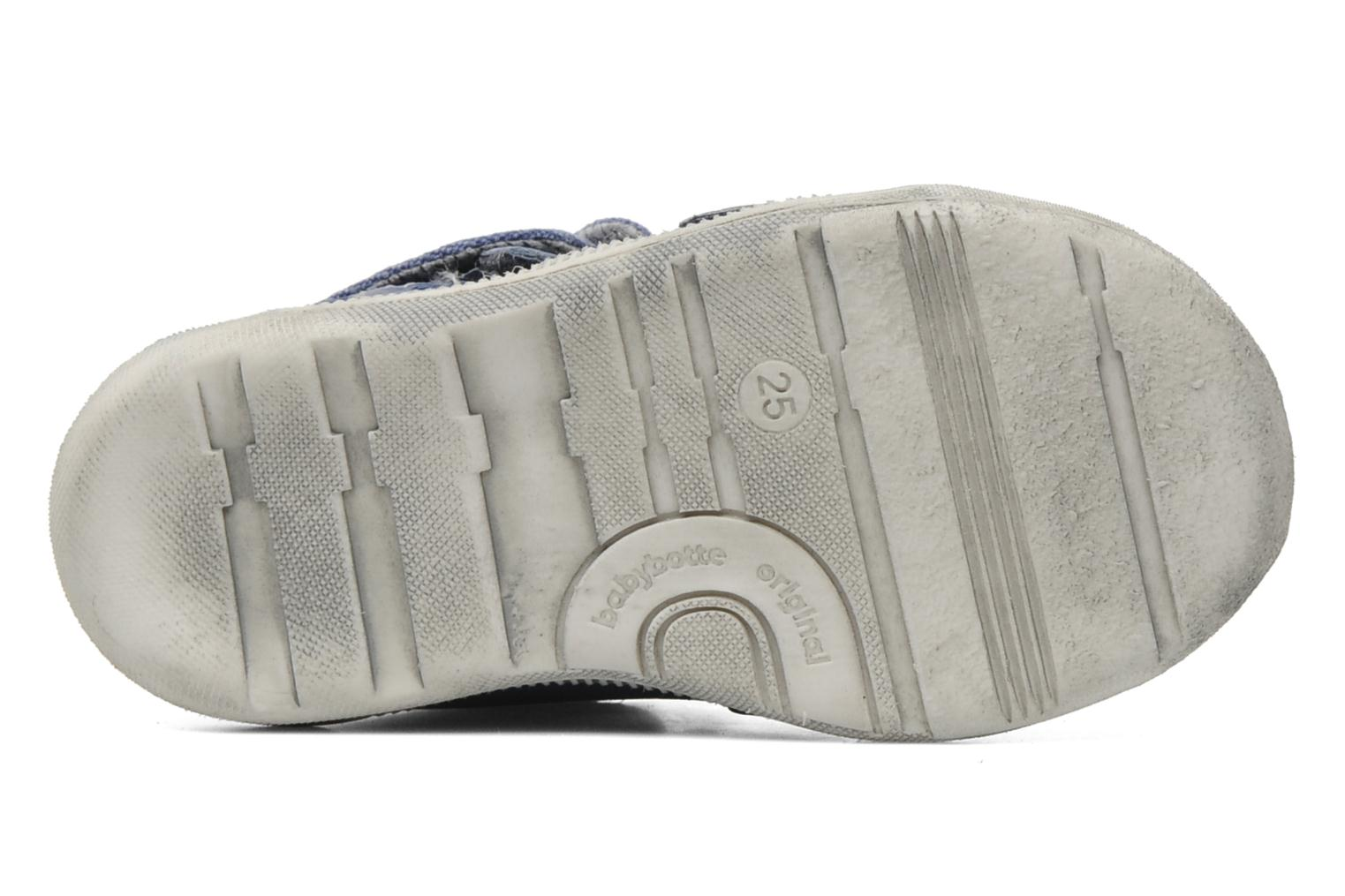 Velcro shoes Babybotte Actor Blue view from above