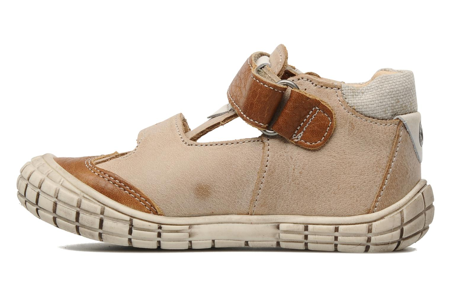 Velcro shoes Babybotte Shamalo Brown front view