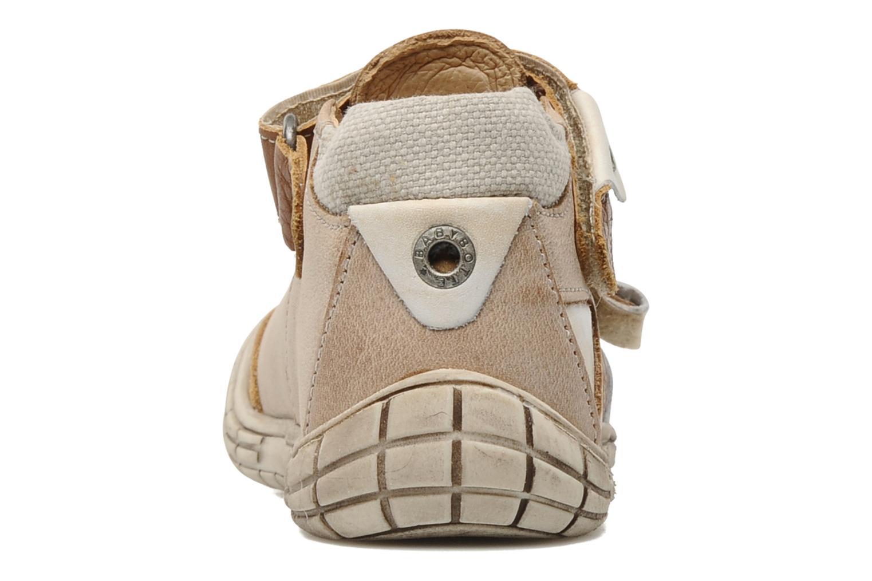 Zapatos con velcro Babybotte Shamalo Marrón vista lateral derecha