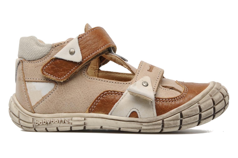 Zapatos con velcro Babybotte Shamalo Marrón vistra trasera
