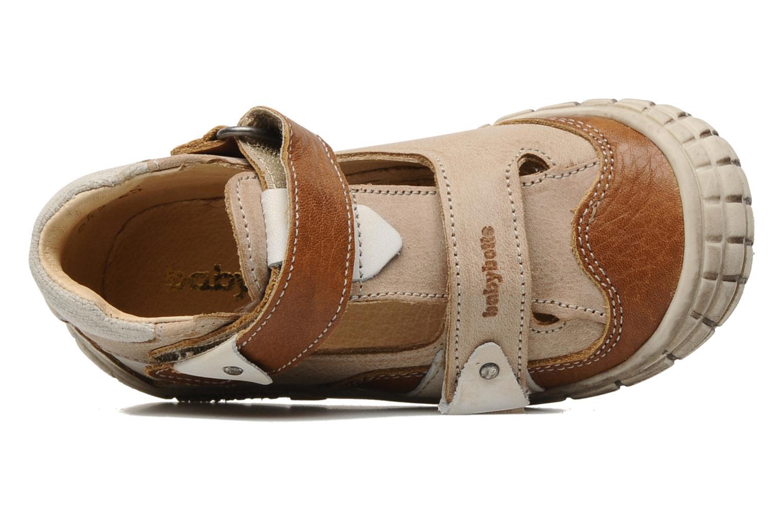 Zapatos con velcro Babybotte Shamalo Marrón vista lateral izquierda