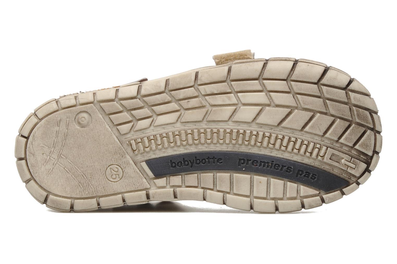 Zapatos con velcro Babybotte Shamalo Marrón vista de arriba