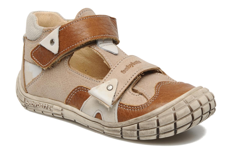 Zapatos con velcro Babybotte Shamalo Marrón vista de detalle / par