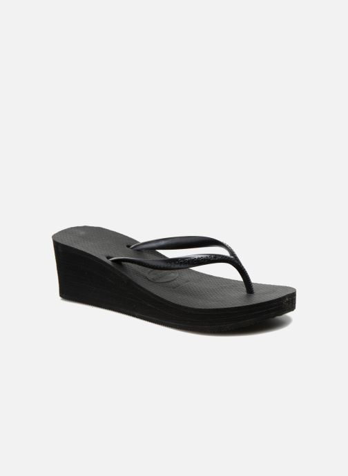 Chanclas Havaianas High Fashion Negro vista de detalle / par