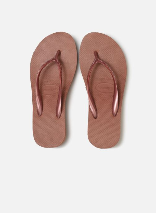 Flip flops Havaianas High Fashion Bronze and Gold model view