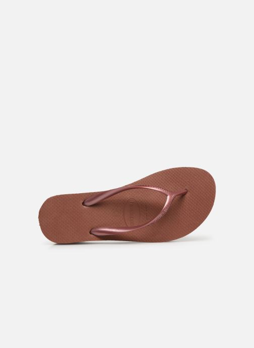 Flip flops Havaianas High Fashion Bronze and Gold view from the left