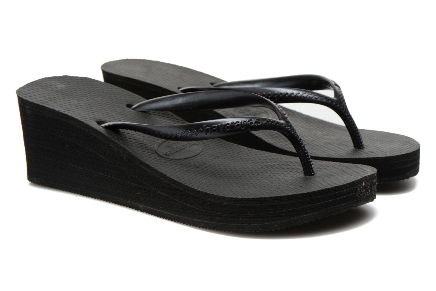 Tongs Havaianas High Fashion Noir vue 3/4