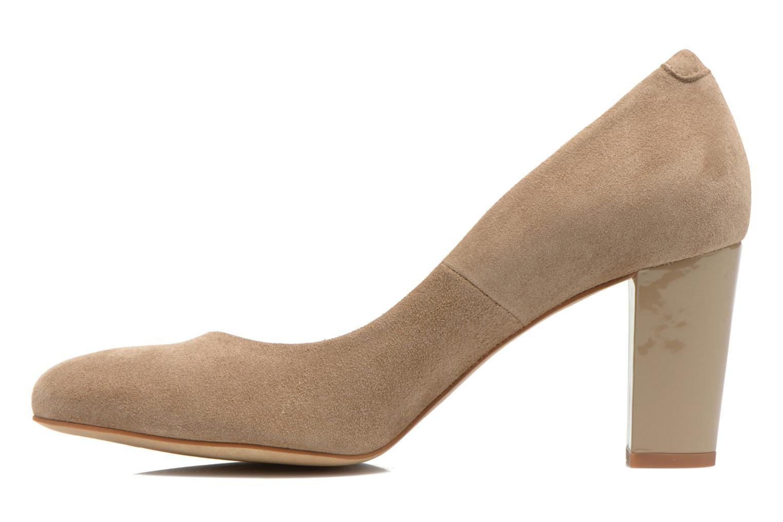 High heels Perlato Paty Beige front view