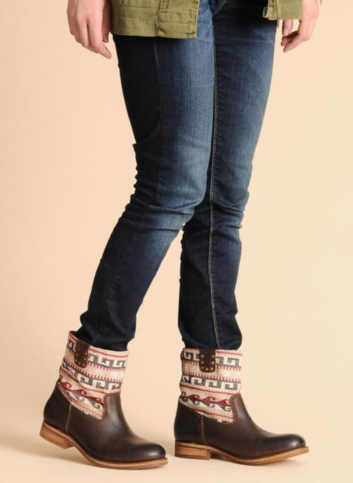 Ankle boots Koah Dalia Brown view from underneath / model view