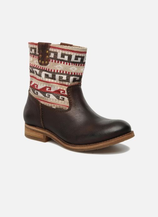 Ankle boots Koah Dalia Brown detailed view/ Pair view