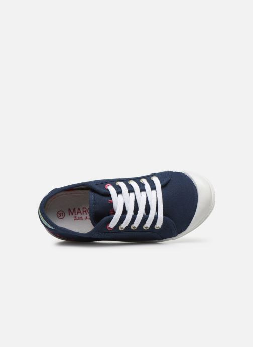Baskets Little Marcel Benilace Uni J Bleu vue gauche