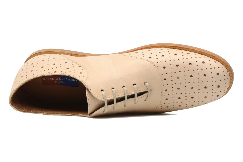 Chaussures à lacets Opening Ceremony M2 Jim Beige vue gauche