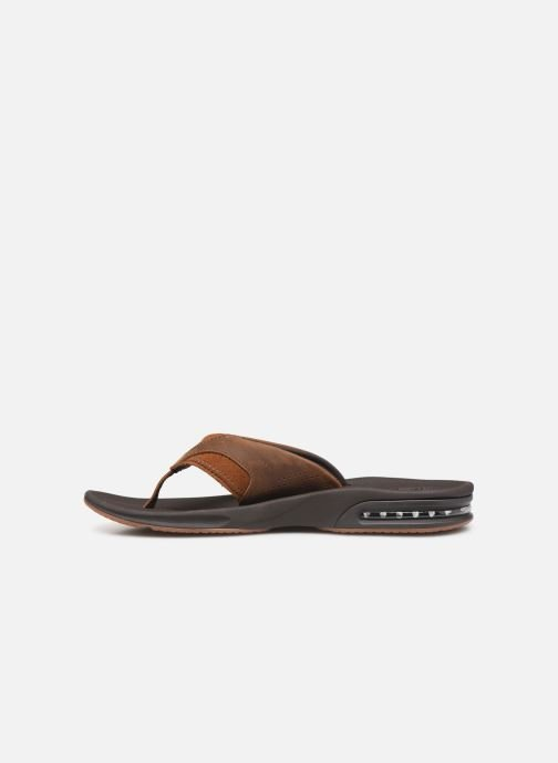 Tongs Reef Leather Fanning Marron vue face