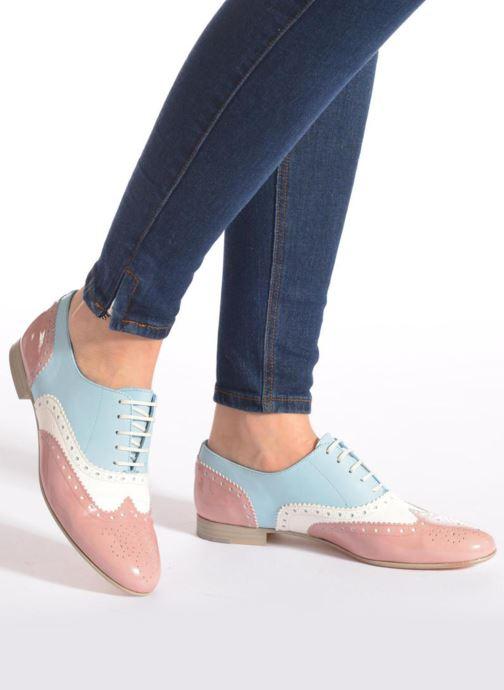 Chaussures à lacets Georgia Rose Paralia Bleu vue bas / vue portée sac