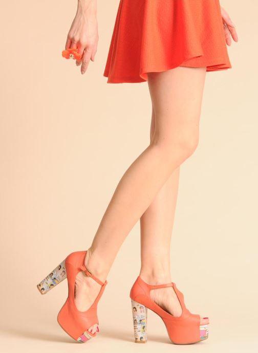 Sandales et nu-pieds Jeffrey Campbell Foxy - Cartoon Heel Orange vue bas / vue portée sac