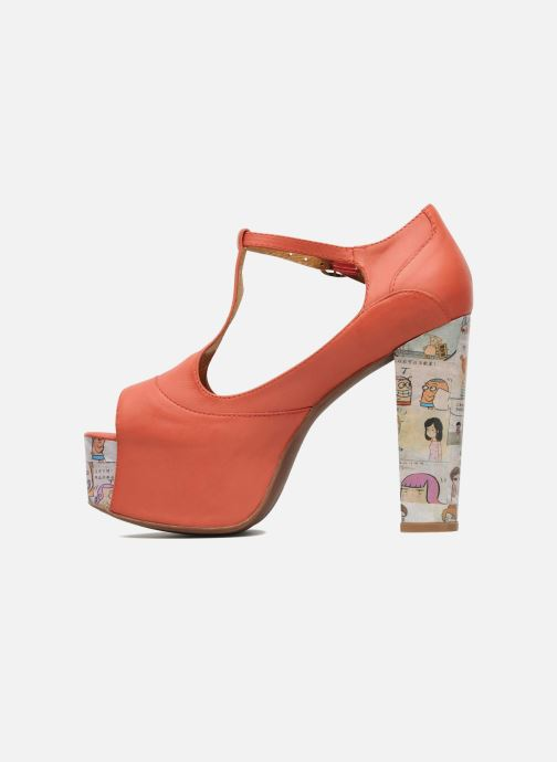 Sandales et nu-pieds Jeffrey Campbell Foxy - Cartoon Heel Orange vue face