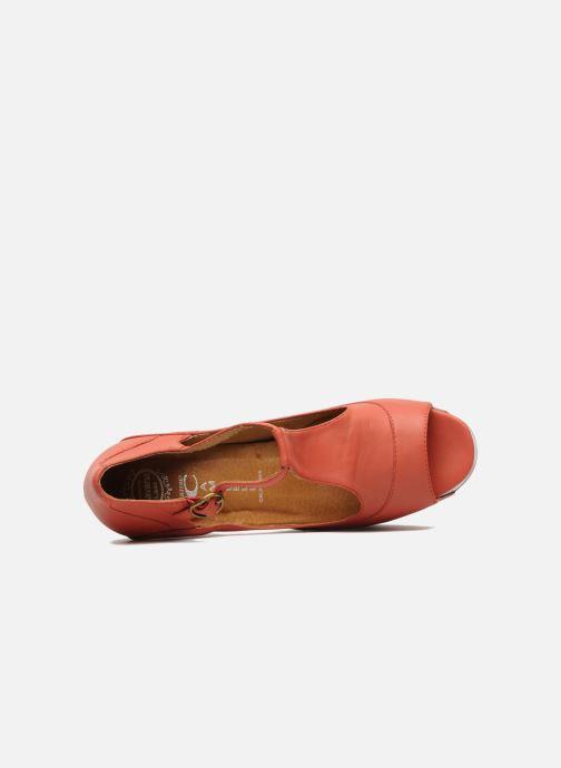 Sandales et nu-pieds Jeffrey Campbell Foxy - Cartoon Heel Orange vue gauche