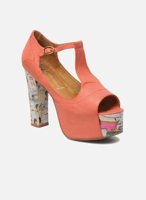 Sandales et nu-pieds Jeffrey Campbell Foxy - Cartoon Heel Orange vue détail/paire