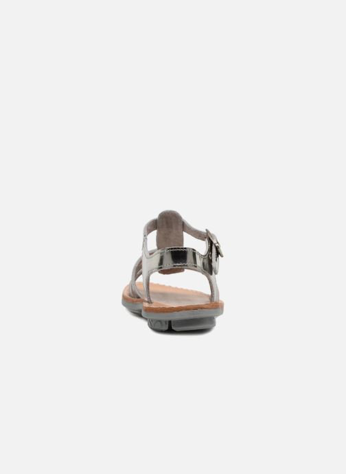 Sandals Minibel Chana Silver view from the right