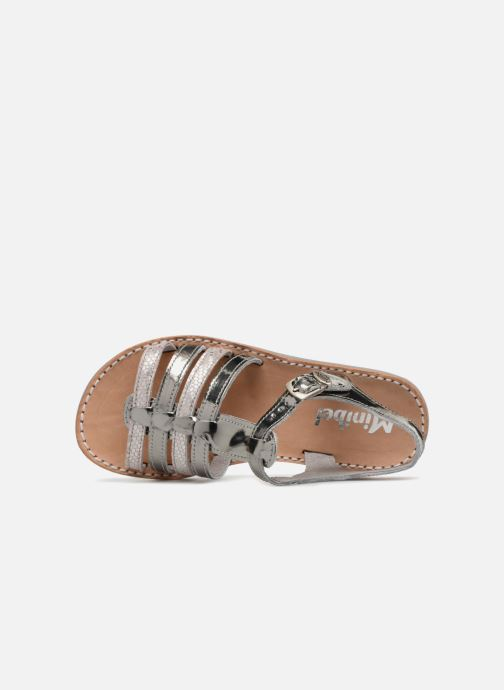 Sandals Minibel Chana Silver view from the left