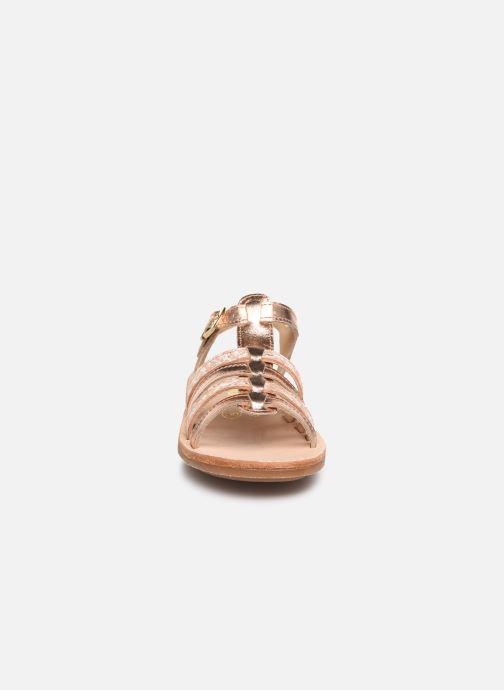 Sandales et nu-pieds Minibel Chana Argent vue portées chaussures