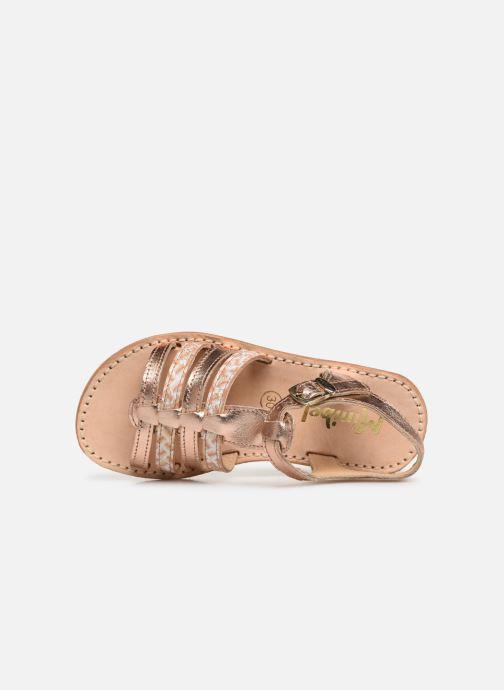 Sandales et nu-pieds Minibel Chana Argent vue gauche