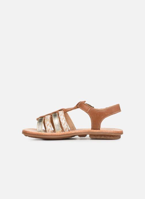 Sandales et nu-pieds Minibel Chana Marron vue face