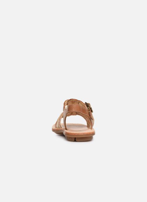 Sandales et nu-pieds Minibel Chana Marron vue droite