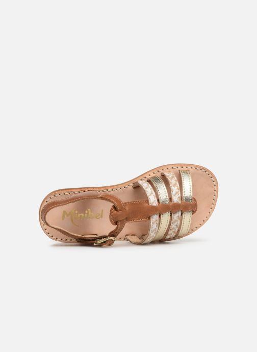 Sandales et nu-pieds Minibel Chana Marron vue gauche