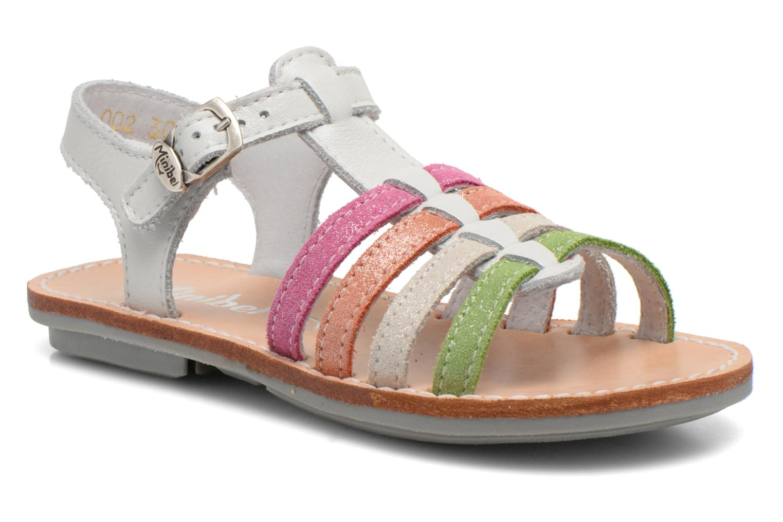 Sandales et nu-pieds Minibel Chana Blanc vue détail/paire