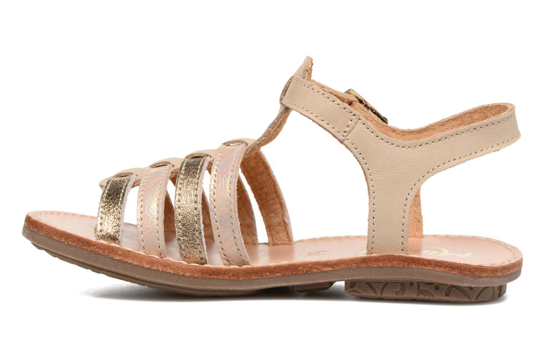 Sandales et nu-pieds Minibel Chana Or et bronze vue face